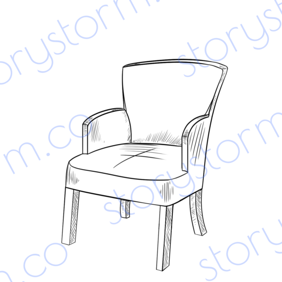 Linear furniture with no pose Chair 6