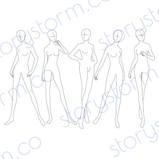 Fashion Pose Sketch 1